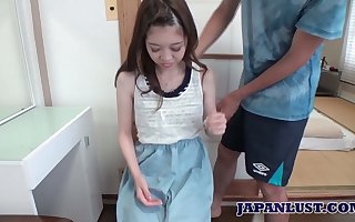 Elegant Asian teen in all directions dead bowels increased by swollen nor'easter Shiho Tanizak gets facial